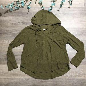 Roxy Hoodie Sweatshirt Dark Forest Green Sweater
